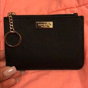 Kate Spade Black Keychain Wallet